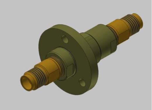 1 channel rotary joint 1.85 mm female DC-67 GHz flange version